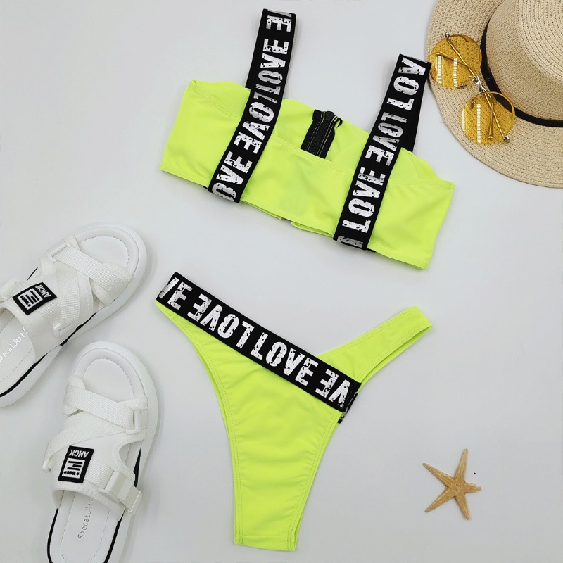 Custom Made Two Pieces Bikini Yoga Suit Sexy Sport Bikini