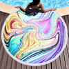 High Quality Marble Quickly Dry Multi-color Round Microfiber Beach Towel For Summer