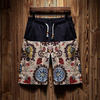 Wholesale Black Floral Printed Men's Trunk 2021 Trend Swimming Shorts